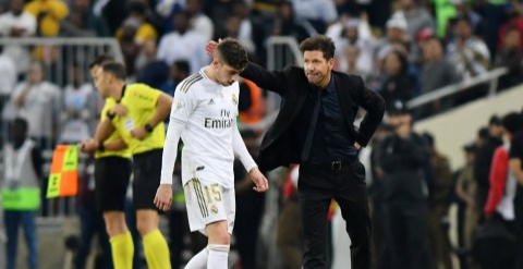 Simeone praises Real Madrid's Federico Valverde for red card in Super Cup final