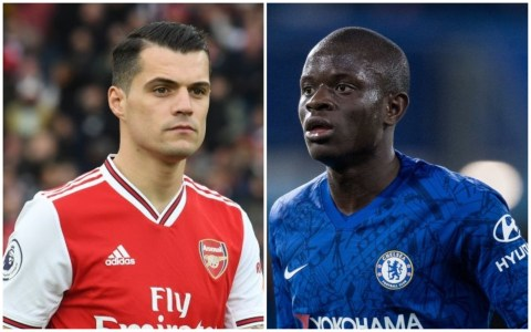 Xhaka and Kante