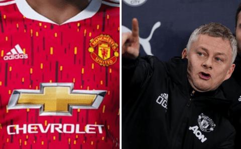 Barcelona leak new Man Utd jersey