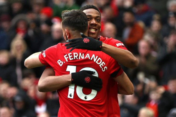 Bruno Fernandes and Anthony Martial
