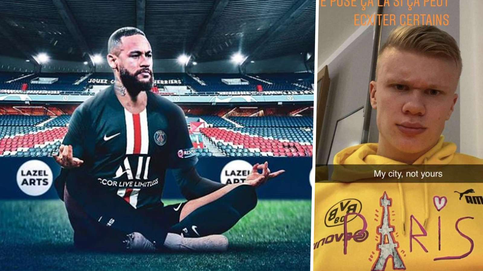 Neymar planned PSG's mocking of Erling Haaland in advance, reveals teammate Marquinhos