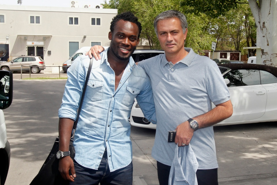 Essien joined Real Madrid with just boots & Chelsea tracksuit