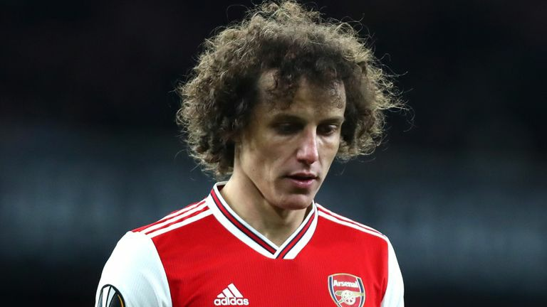 David Luiz set to leave Arsenal for free this summer with no contract talks planned