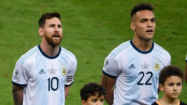 Messi and Lautaro Martinez