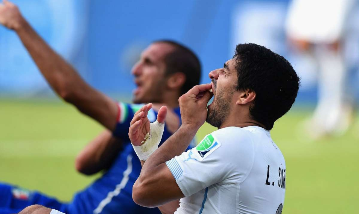 Chiellini admires Luis Suarez for biting him at the 2014 World Cup