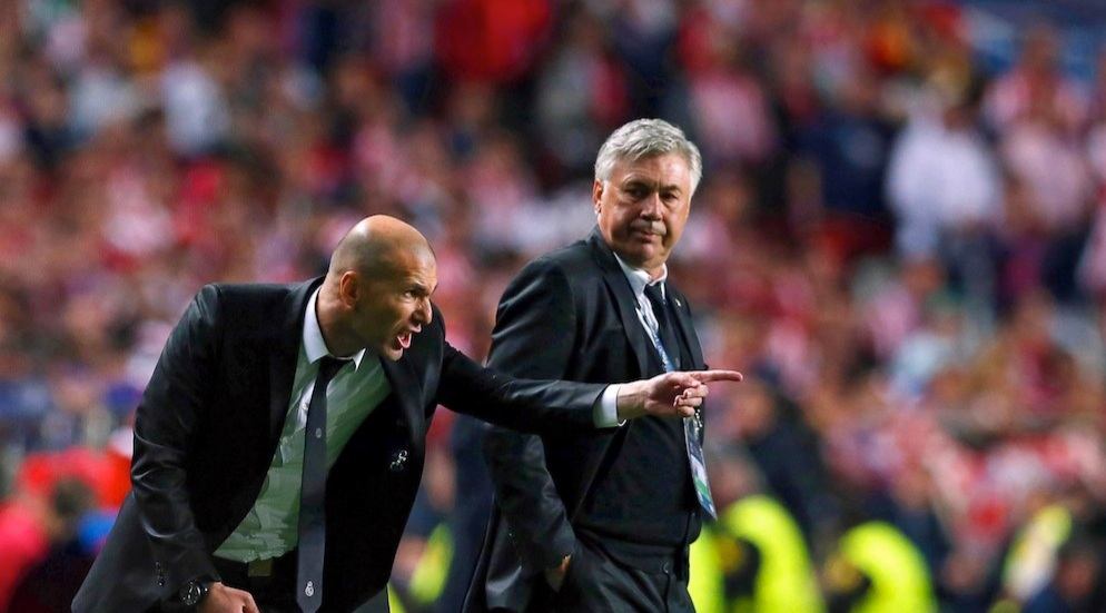 Zidane and Ancelotti