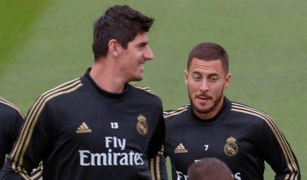 Courtois: I had Madrid talks with Eden Hazard at Chelsea