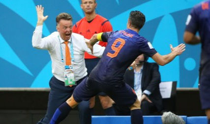 Robin van Persie reveals a furious Van Gaal once slapped him