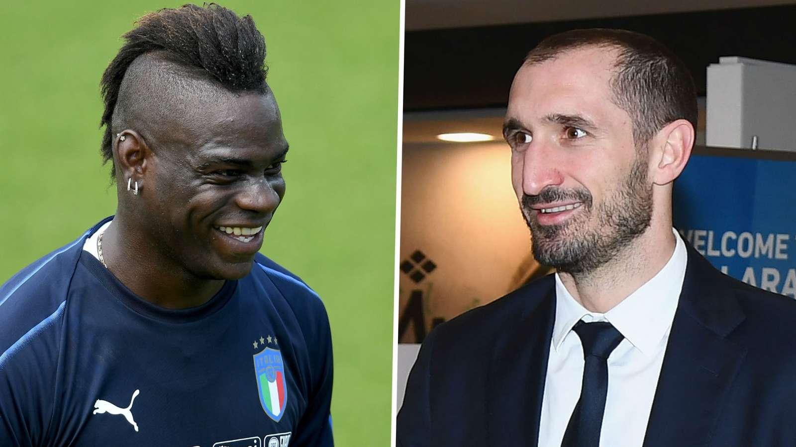 Balotelli and Chiellini