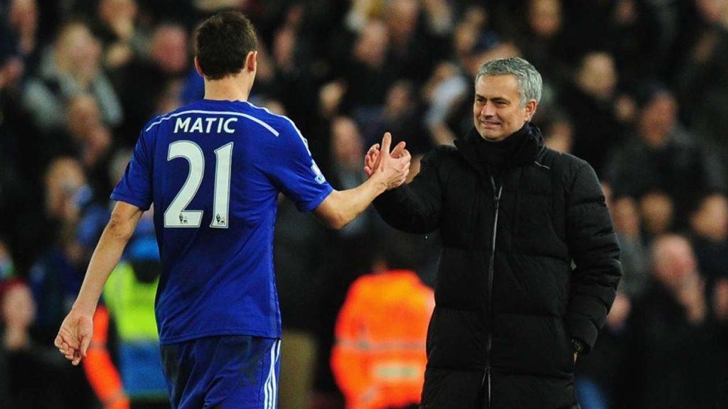 Matic and Mourinho