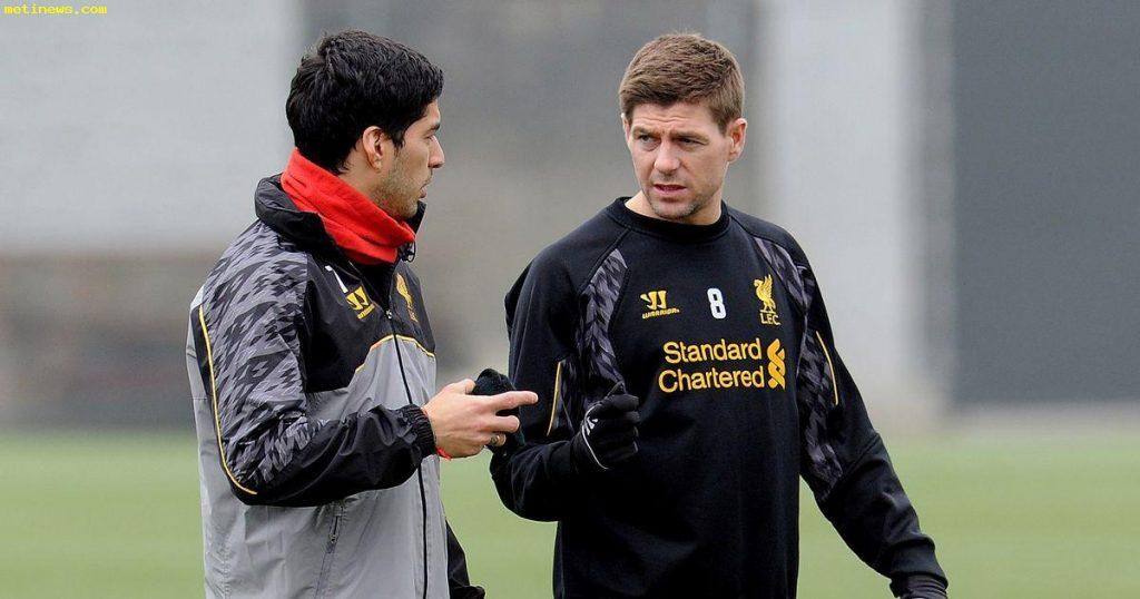 Gerrard and Luis Suarez