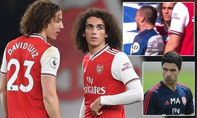 Guendouzi snubs plea from David Luiz to apologise over bust-up with Mikel Arteta