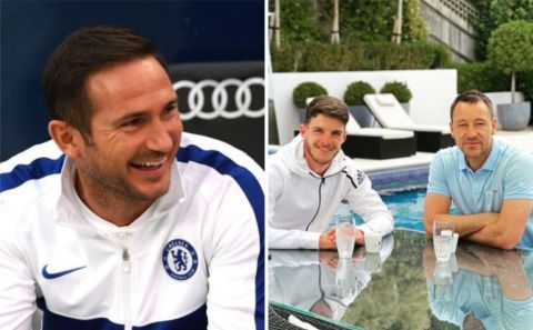 Lampard reacts to John Terry 'tapping up' Declan Rice for Chelsea