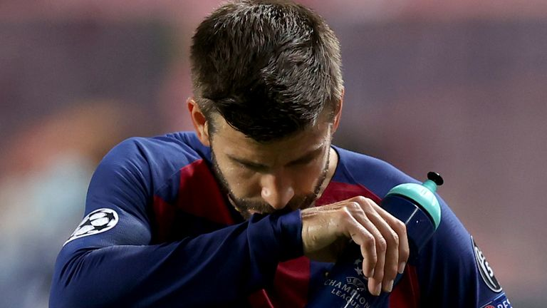 Tearful Gerard Pique offers to quit Barca after humiliating 8-2 defeat