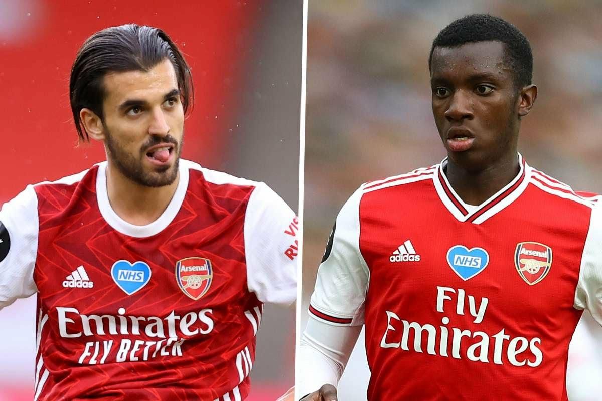 Arsenal stars Ceballos & Nketiah