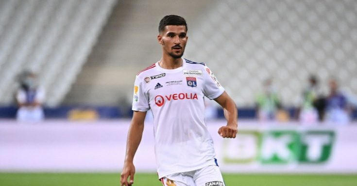 Lyon reject £31m plus player bid from Arsenal for Houssem Aouar