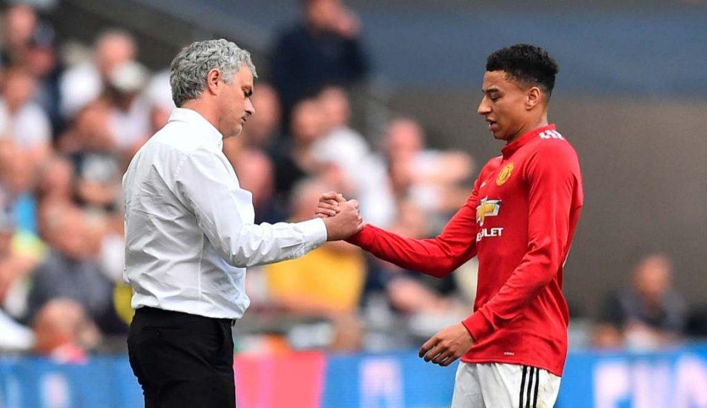 Mourinho and Lingard