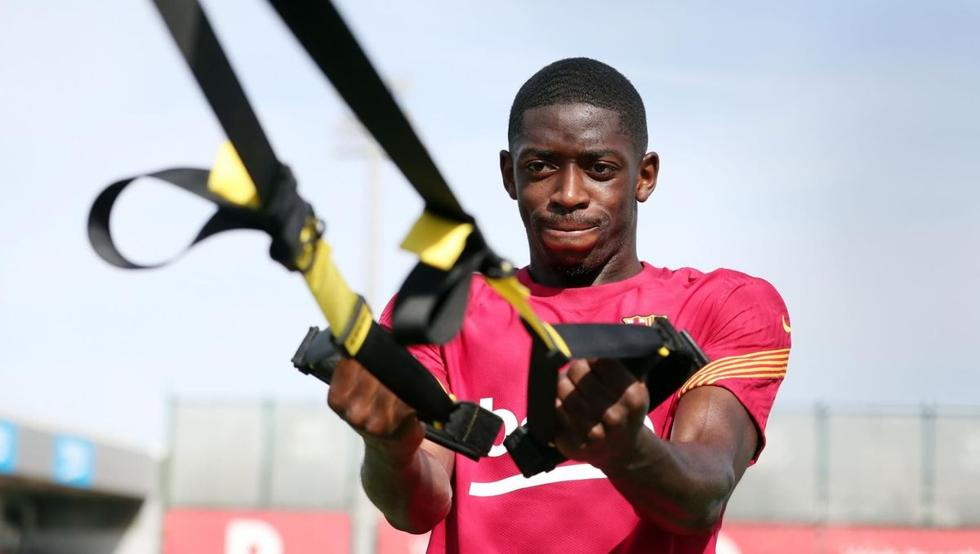 Barca make clear demand as Man Utd begin talks to sign Ousmane Dembele