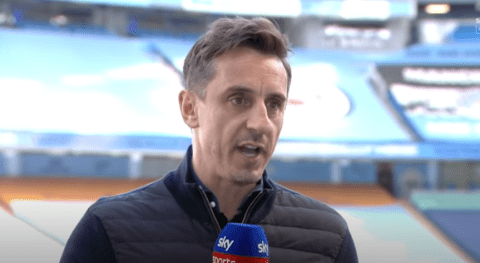 Gary Neville changes his Premier League prediction after Liverpool's 3-1 win over Arsenal
