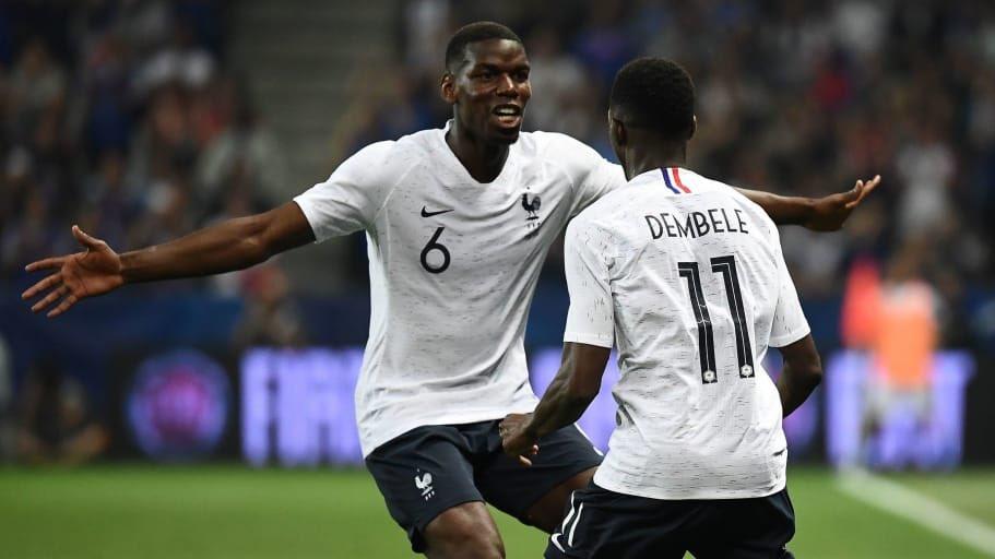 Pogba urges Ousmane Dembele to join Man Utd
