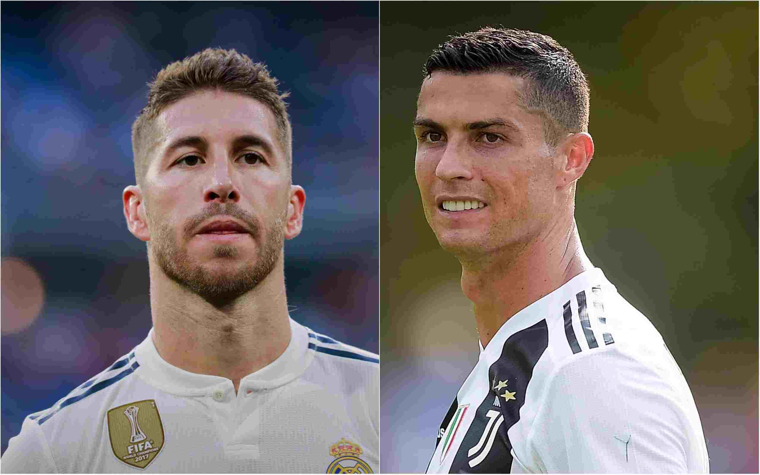 Ronaldo and Sergio Ramos