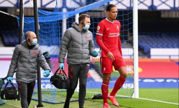 Van Dijk 'set to miss the rest of the season' after suffering serious knee injury