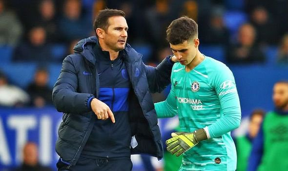 Lampard reacts to Kepa's latest error which sparked Chelsea collapse