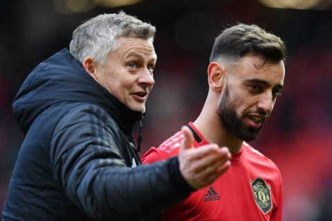 Bruno Fernandes camp respond to bust-up rumours with Solskjaer