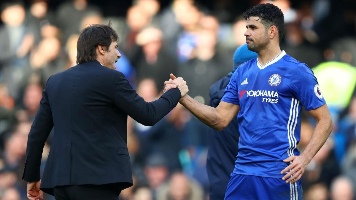 Conte and diego Costa