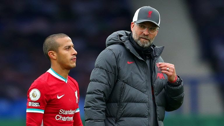 Klopp provides worrying Thiago Alcantara injury update