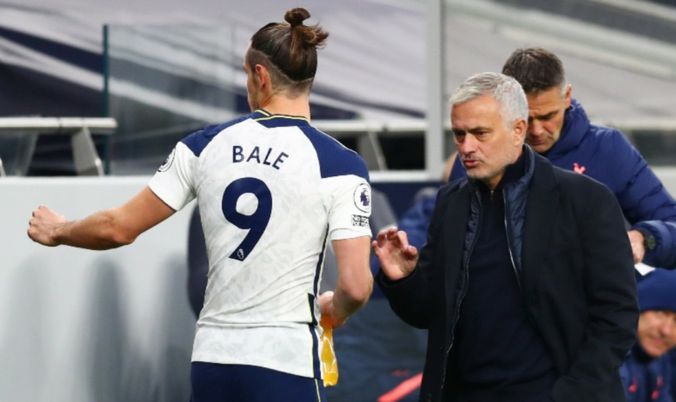 Mourinho worried with Gareth Bale's handling under Arsenal coach