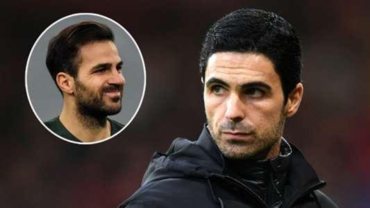 Fabregas offers some Mourinho advice to Mikel Arteta at Arsenal