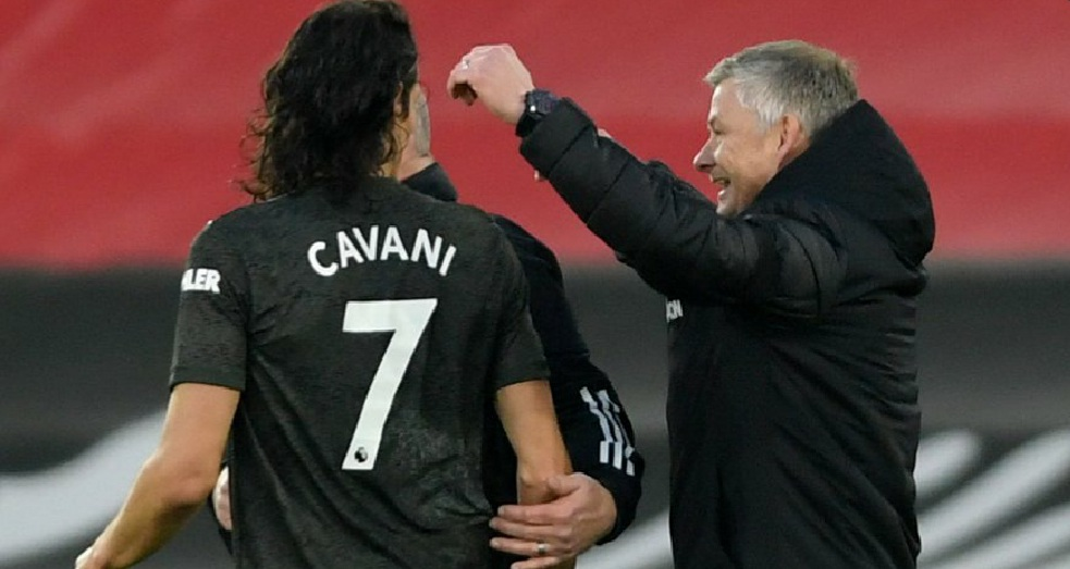 Solskjaer warns Cavani to 'learn' after boots mix-up at half-time vs Southampton