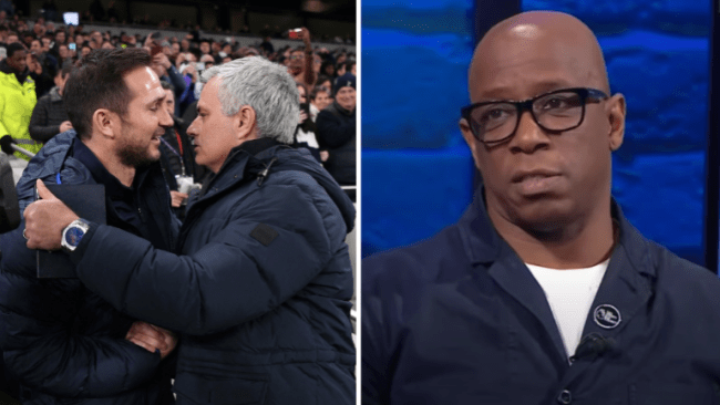Chelsea and Ian Wright