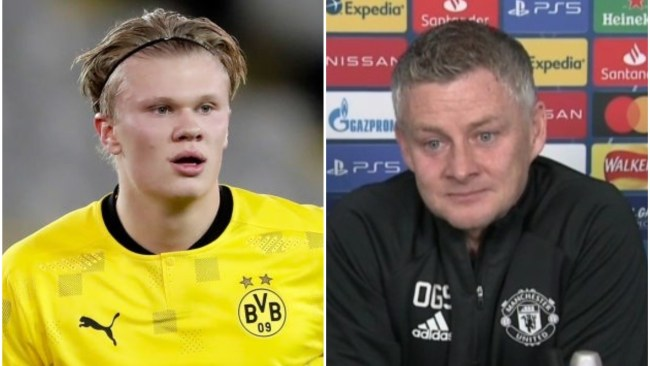 Solskjaer sends message to Erling Haaland over Champions League record
