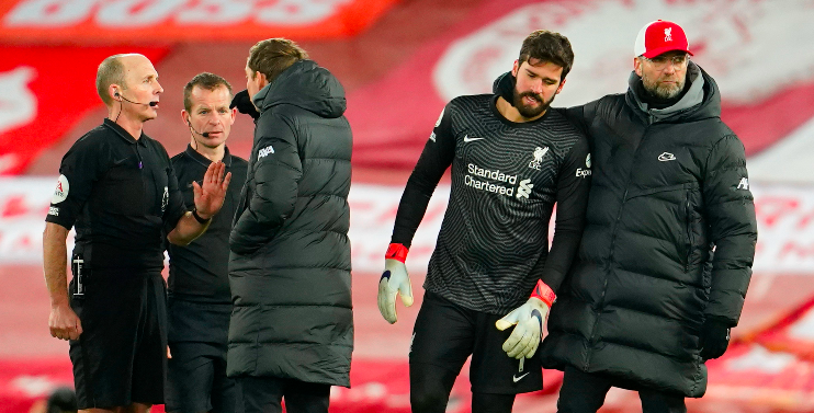 What Alisson told Klopp about Burnley penalty after Liverpool's defeat