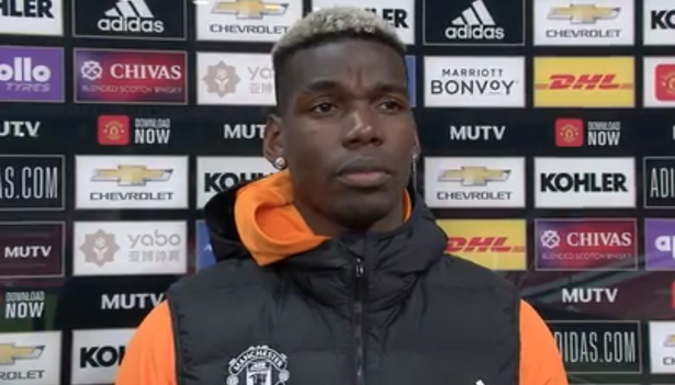 Pogba reveals Man Utd dressing room mood after Man City loss
