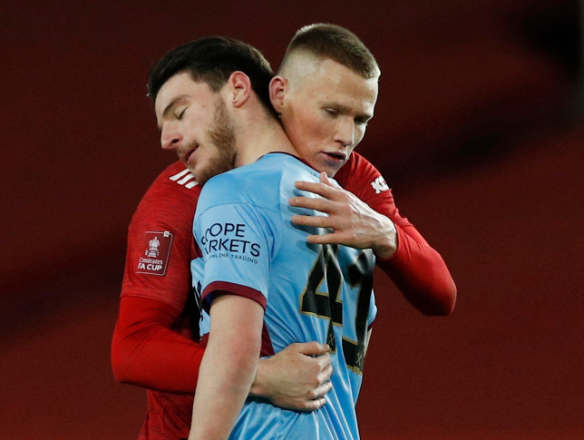 Declan Rice issues apology after West Ham's 1-0 defeat to Man Utd