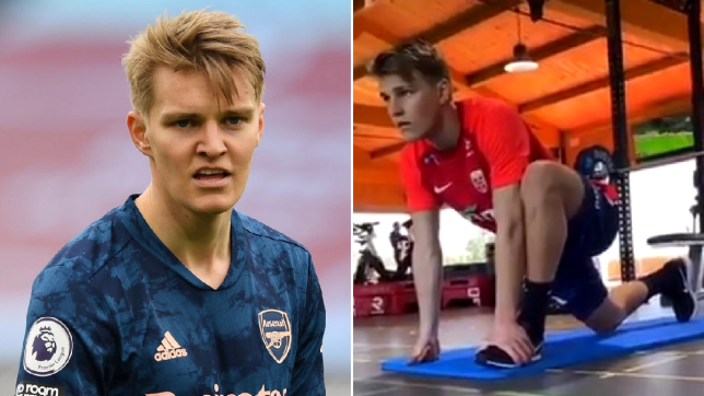 Norway boss gives Martin Odegaard injury update after Arsenal star trains alone