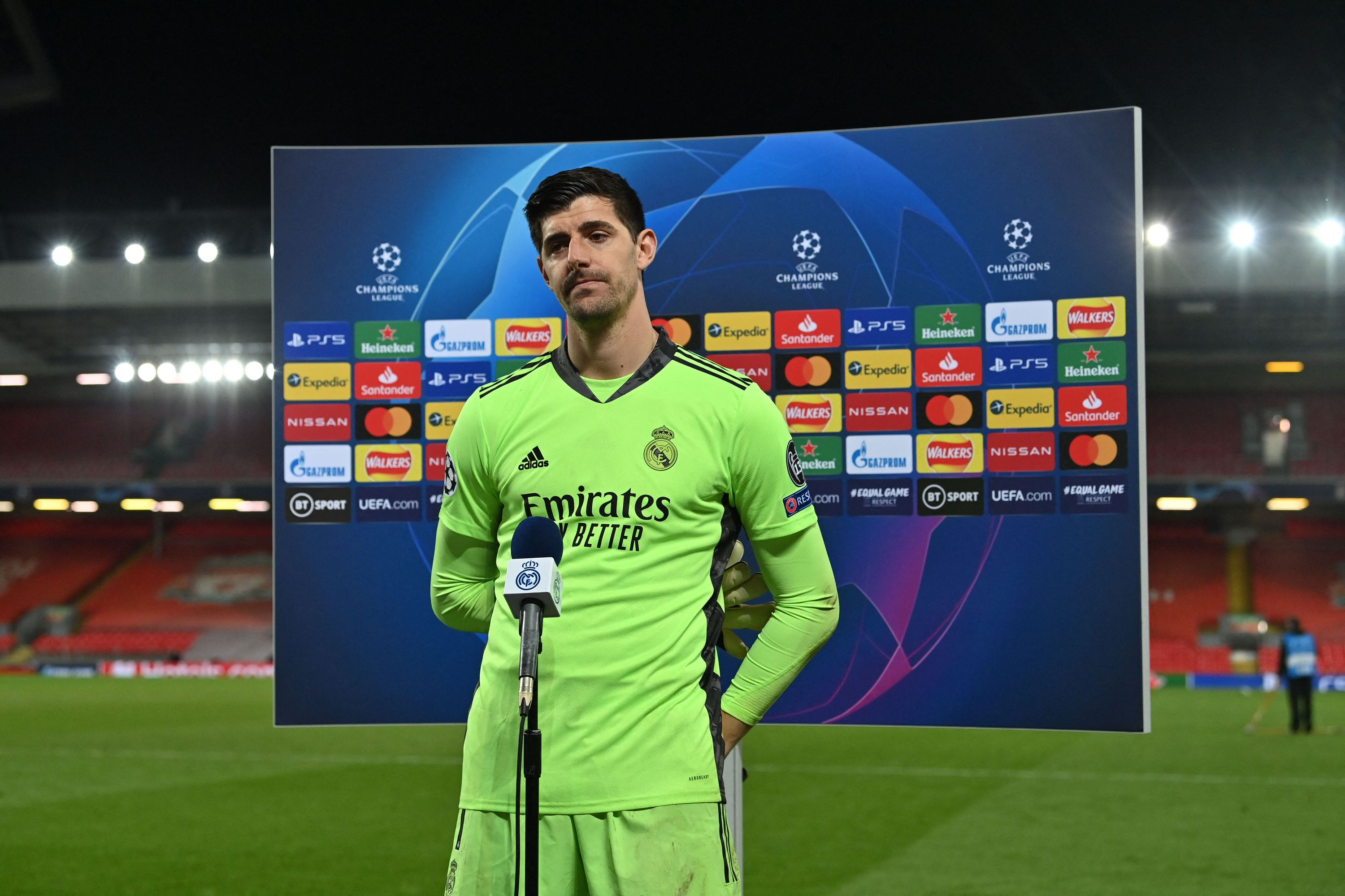 Thibaut Courtois sends message to the Chelsea fans ahead of Champions League reunion