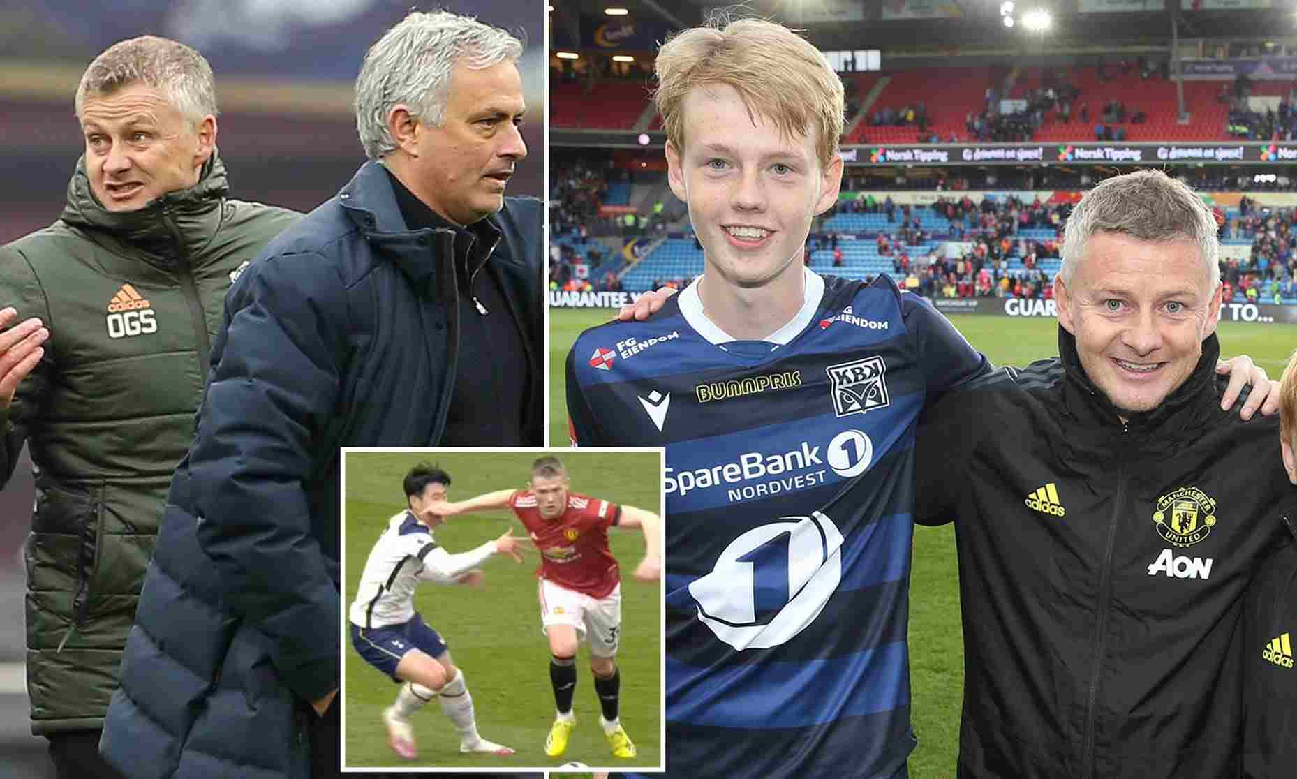 Solskjaer's son takes swipes at Mourinho & Son Heung-min