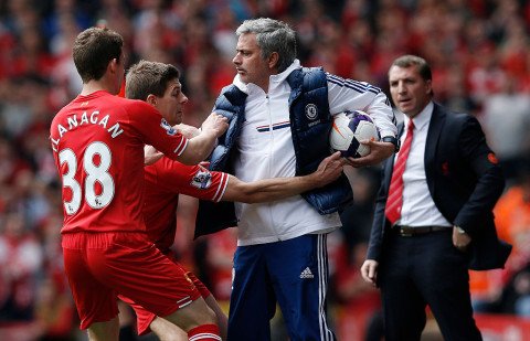 Mourinho mocks Liverpool on anniversary of Gerrard's slip against Chelsea