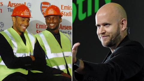 Three Arsenal legends join Spotify founder Daniel Ek's bid to buy London club