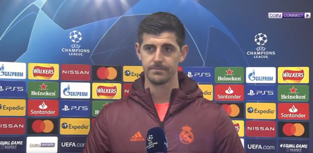 Courtois sends class message to Chelsea after Madrid's Champions League exit
