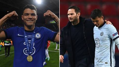 Thiago Silva pays tribute to Lampard after Chelsea's UCL win