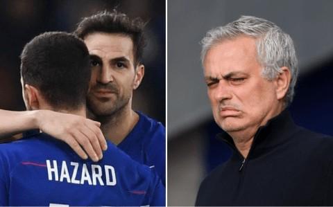 Fabregas responds to Mourinho's claim that Eden Hazard was 'awful' in training