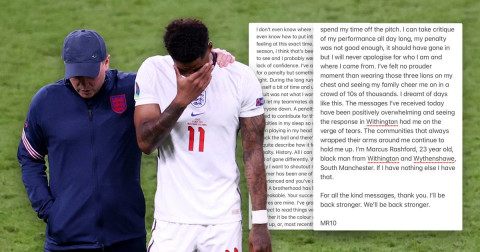 Rashford speaks out on penalty miss & racist abuse after England's Euro 2020 defeat