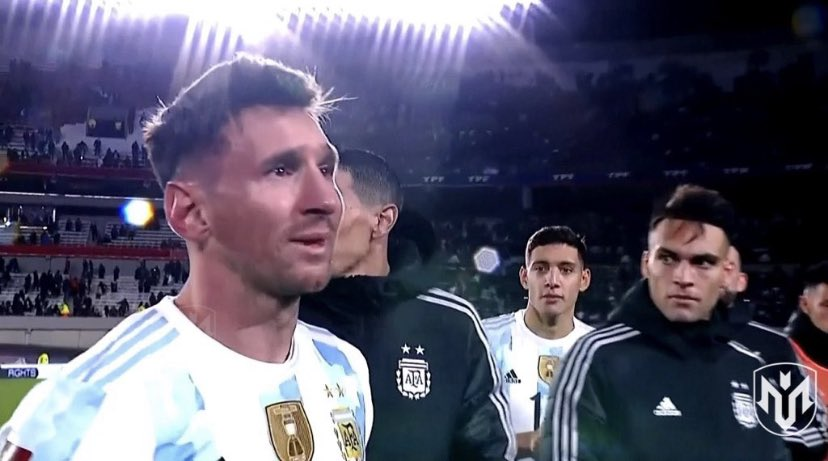Lionel Messi in tears while celebrating Copa America win with fans after breaking Pele's goals record