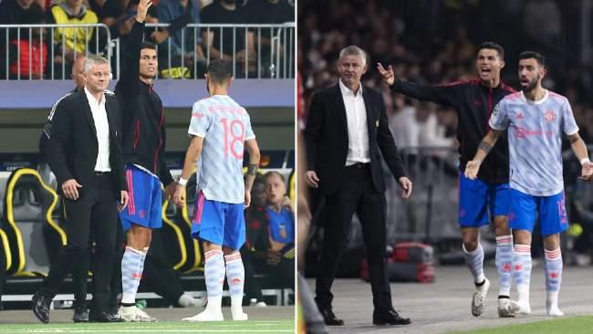 'Sit down!' – Rio Ferdinand reacts to Ronaldo's touchline antics in Man Utd UCL defeat